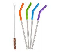 Металлические трубочки для коктейлей и смузи Klean Kanteen 5pc Straw Set Multi Color