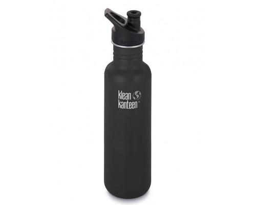 Спортивная бутылка Klean Kanteen Classic Sport 800мл - Shale Black