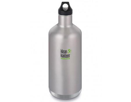 Термобутылка из нержавеющей стали Klean Kanteen Insulated Classic Loop Brushed Stainless 1900 мл
