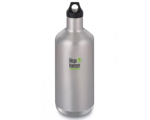 Термобутылка Klean Kanteen Insulated Classic Loop 1900 мл Brushed Stainless