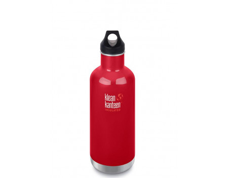 Термобутылка из нержавеющей стали Klean Kanteen Insulated Classic Loop Mineral Red 946 мл