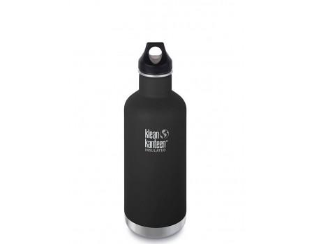 Термобутылка из нержавеющей стали Klean Kanteen Insulated Classic Loop Shale Black 946 мл