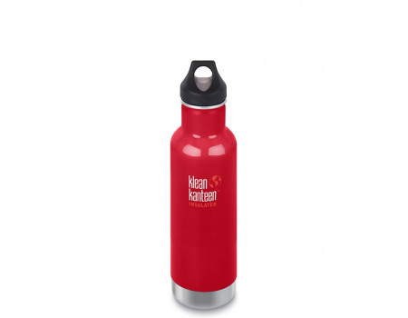 Термобутылка из нержавеющей стали Klean Kanteen Insulated Classic Loop Mineral Red 592мл