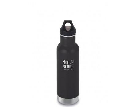 Термобутылка из нержавеющей стали Klean Kanteen Insulated Classic Loop Shale Black 592мл