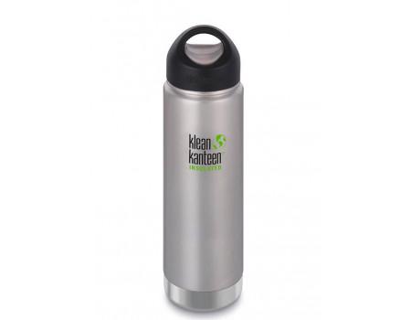 Вакуумная термобутылка из нержавеющей стали Klean Kanteen Wide 592мл Brushed Stainless