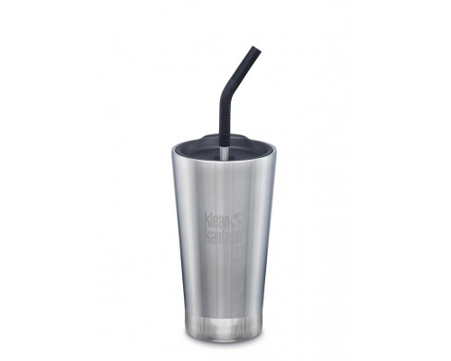 Термостакан с трубочкой Klean Kanteen Insulated Tumbler 473мл Brushed Stainless