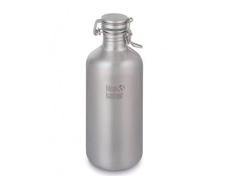 Стальная бутылка большого объема Гроулер Klean Kanteen Growler 1900 мл Brushed Stainless