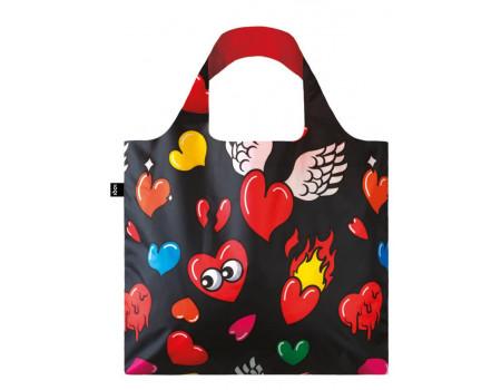 Многоразовая сумка LOQI FASHION - Pop Hearts