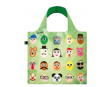 Многоразовая сумка LOQI Cheetham Faces
