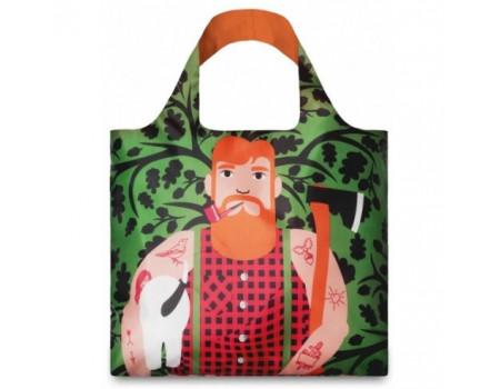 Многоразовая сумка LOQI FASHION - Lumber Jack